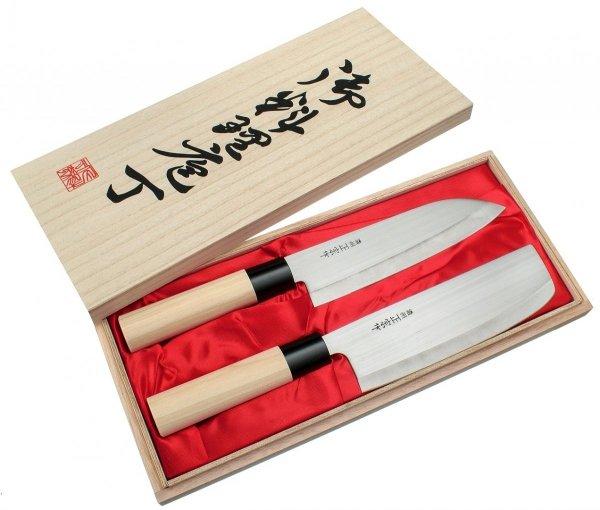 Satake Megumi Zestaw nóż Santoku + Nakiri
