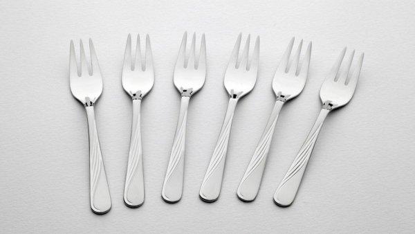 Gerlach Sztućce Celestia - komplet widelczyków do ciasta 6 szt. dla 6 osób, wysoki połysk