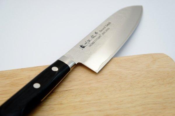 Nóż Santoku 17 cm Satake Unique