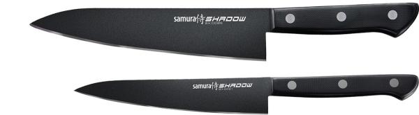 Samura Shadow zestaw dwóch noży utility i szef