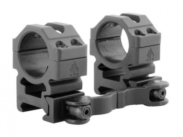 Montaż szybki dwuczęściowy średni Leapers UTG 1''/weaver Quick Detach 4 śruby