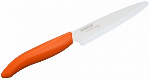 Kuchenny nóż ceramiczny uniwersalny 11cm pomarańczowa rączka Kyocera