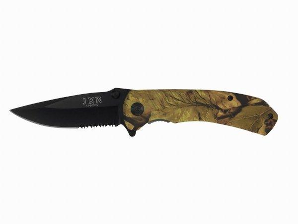Nóż Joker kamuflaż myśliwski ostrze 8,5 cm