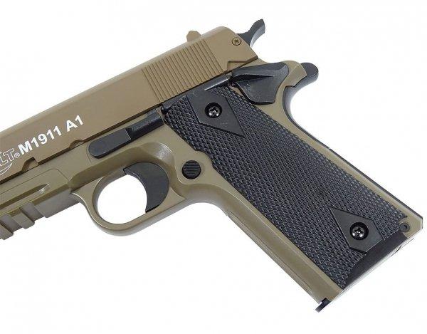 Pistolet ASG Cybergun Colt 1911A1 HPA Metal Slide - tan (180126)
