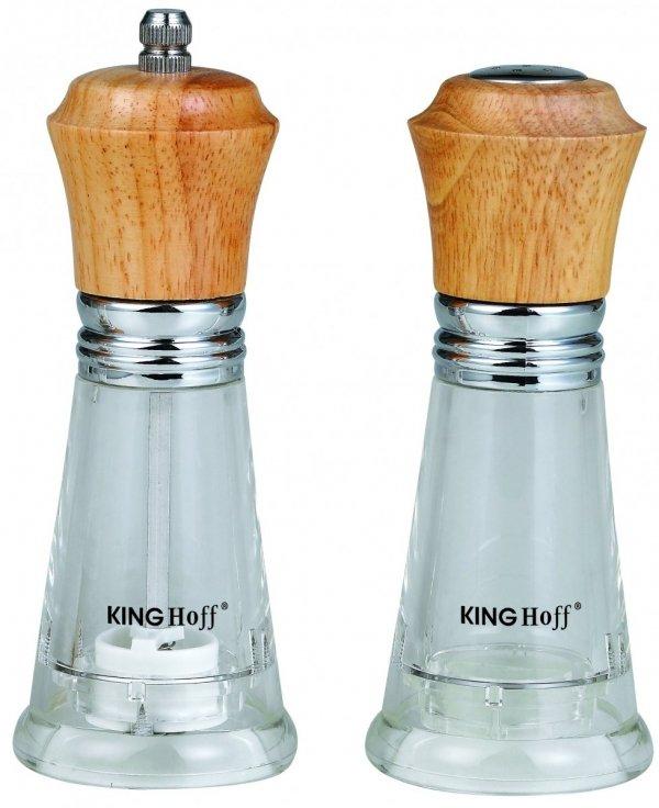 Kinghoff Zestaw Młynek Do Pieprzu Z Solniczką 15cm Kh-4678