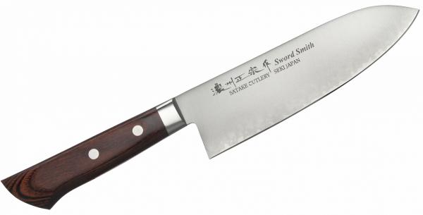 Nóż Mahogany Santoku 17 cm Satake Unique