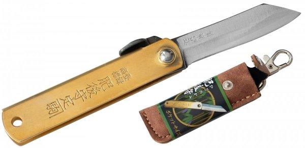 Nóż kieszonkowy Aogami Higonokami Pocket Size Brown 55 mm