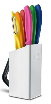 Blok z kolorowymi nożami Swiss Classic Utility Victorinox 6.7127.6L14