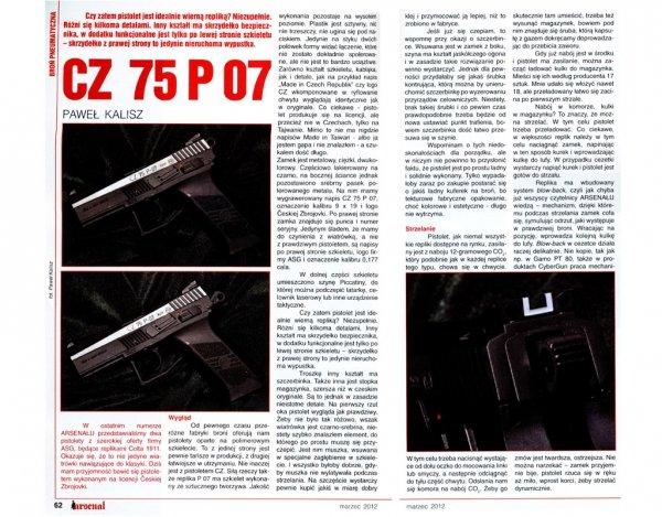 Wiatrówka CZ 75 P-07 Duty Blow Back 4,5 mm (16728)