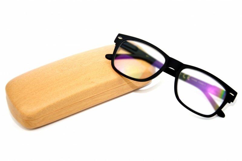 Black Laguna +1,5 - Okulary Korekcyjne z Antyrefleksem