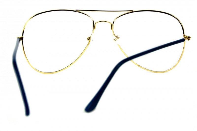 Vendor - Okulary do pracy przy komputerze - Granatowo-Złote