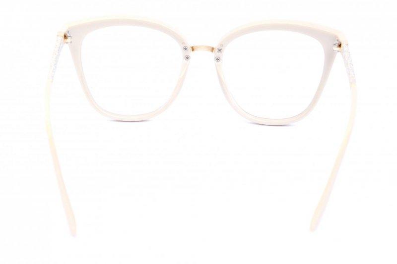 Glitter - Okulary Zerówki - Kremowe