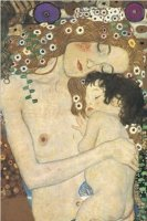 Gustav Klimt Mother and Child - plakat