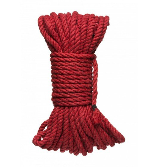 Kink Hogtied Bind & Tie 6mm Red Hemp Bondage Rope 50 Feet