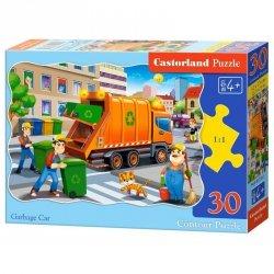 Puzzle 30 el. garbage car