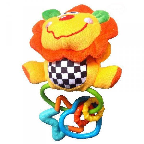 Zabawka grzechotka lew