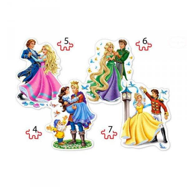 PUZZLE 4W1 PRINCESSES IN LOVE