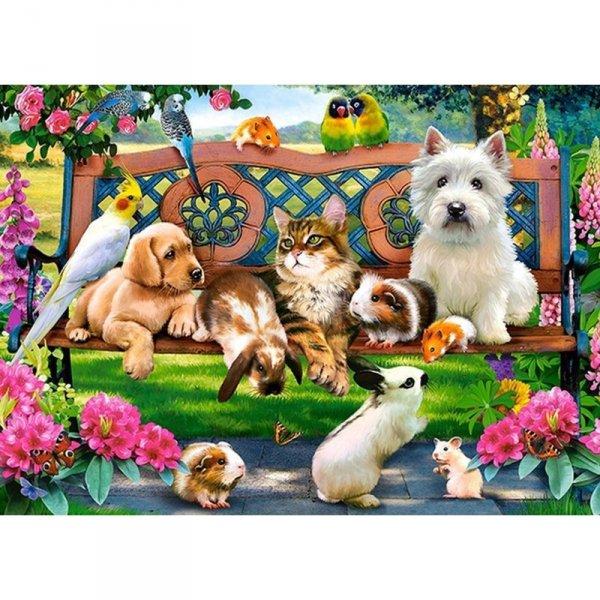 Puzzle 180el. pets in the park
