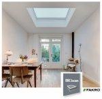 Fakro Okno do dachu płaskiego DXC-M P2 kopuła matowa, Ug=1,1 W/m²K nieotwierane