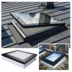 Fakro Okno do płaskiego dachu DMF DU6 SECURE antywłamaniowe, U=0,70 W/m²K, otwierane za pomoca drążka ZSD