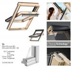 Okno Dachowe Velux GGL 3070 Uw = 1,3 Drewniane Okno obrotowe  z szybą energooszędną, hartowaną i laminowaną P2A