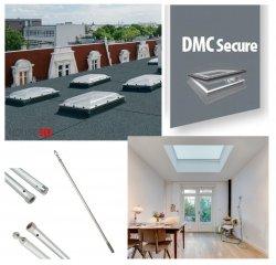 Fakro Okno do dachu płaskiego DMC-M P2 kopuła matowa, Ug=1,1 W/m²K otwierane manualnie za pomoca drążka ZSD