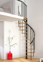 Spiralne schody Dolle Calgary - Ø 140 - 280,80 cm 11 stopni antracytowe ze stopniam bukowymi