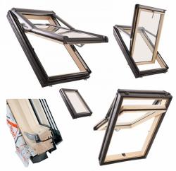 Okno Dachowe Roto Designo WDF R79 H WD Drewniane Okno wysokoosiowe