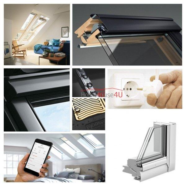 Okno Dachowe Velux INTEGRA GGL 306221 Uw = 0,92 Drewniane Okno obrotowe sterowane elektrycznie, superenergooszczędne, szkło hartowane i laminowane P2A z pakietem świetnej redukcji hałasu