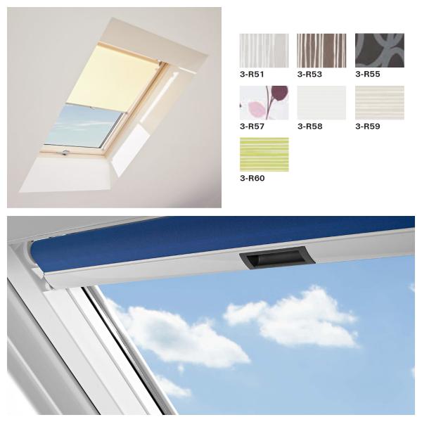 Roto Roleta wewnętrzna dzienna standard ZRS M manualna okna Designo R4/R7 grupa kolorów 3 (PG3)