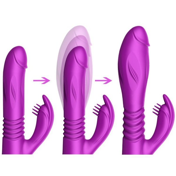 Silicone Vibrator USB 10 Function + Expander and Thrusting Function
