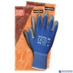 Rękawice powlekane niebiesko-szare rozmiar 7 RNYPO