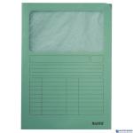 Folder z okienkiem A4 jasnozielony ESSELTE  39500050