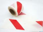 Taśma ostrzegawcza 80mm x 100m biało-czerwona