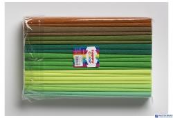 Bibuła 25x200cm mix zielony (10szt) 8kol 2521-MIX5 HAPPY COLOR