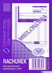 222-5 Rachunek MICHALCZYK&PROKOP A6 (pion) 80 kartek