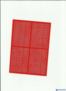 CYFRY samop.0.7cm(8) czerwone ARTDRUK