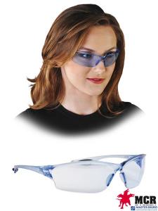 Gogle okulary ochronne MCR jasnoniebieskie klasa optyczna 1 norma EN166