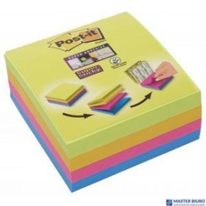 Bloczek POST-IT 76x76mm mix 4x75kol Super Sticky 2014-SC-BYFG UU003083563