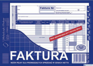 103-3E Faktura VAT netto (pełna) A5 MICHALCZYK&PROKOP  oryginał+kopia