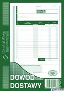 315-3 Dowód dostawy A5 MICHALCZYK&PROKOP 80 kartek