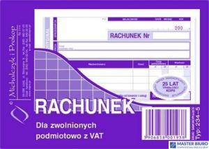 234-5 Rachunek MICHALCZYK&PROKOP A6 80 kartek