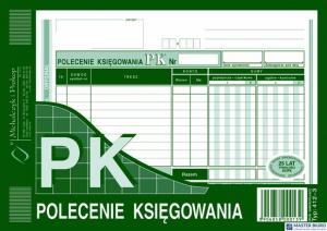 412-3 Polecenie księgowania A5(o+k) MICHALCZYK&PROKOP 80 kartek