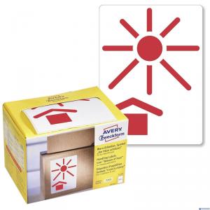 (WYCOFANE) Etykiety Chronić przed nagrzewaniem 7253 74x100 Ostrzegawcze etykiety wysyłkowe Avery Zweckform w dyspenserze, 200 et
