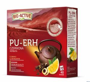 Herbata BIG-ACTIVE PU-ERH czerwona o smaku cytrynowym 40t 1,8g