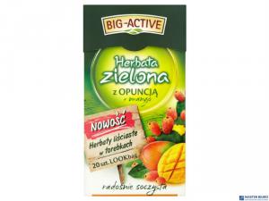 Herbata BIG-ACTIVE OPUNCJA-MANGO zielona 20t
