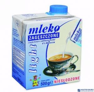Mleko GOSTYŃ zageszczone niesłodzone LIGHT 500g