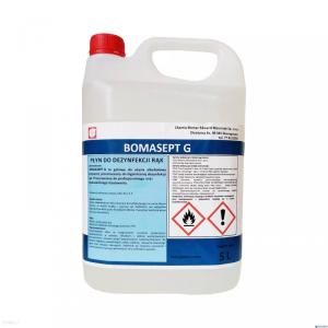 Płyn do dezynfekcji rąk 5l BOMASEPT G alkohol|}70% gliceryna 5% medyczny 8%VAT
