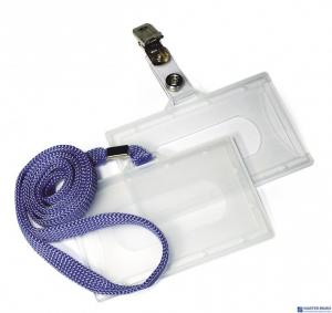 Identyfikator ARGO Holder z taśma niebieską wew.90×56mm