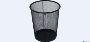 Kosz na śmieci GRAND 12l siatka metal czarny NH-10C 120-1127